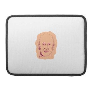 Bald Caucasian Male Head Drawing Sleeve For MacBooks