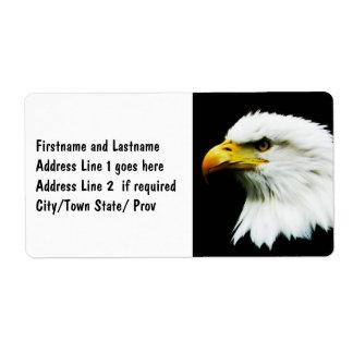 Bald Eagle - American Eagle Photograph Shipping Label