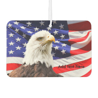Bald Eagle & American Flag Car Air Freshener