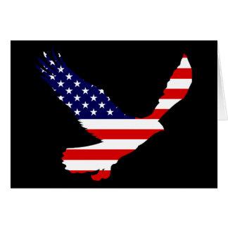 Bald Eagle American Flag Greeting Card