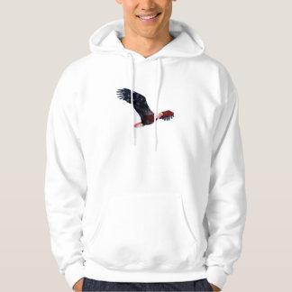 Bald Eagle American Flag Hoodie