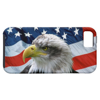 Bald Eagle American Flag iPhone 5 Case