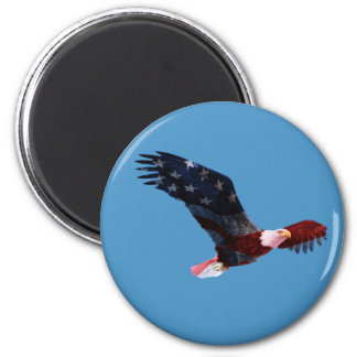 Bald Eagle American Flag Magnet