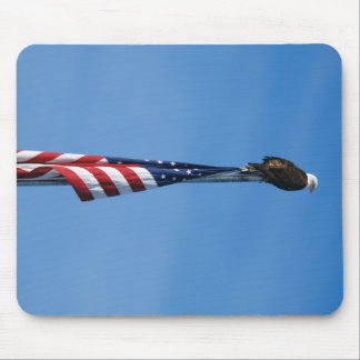 Bald Eagle American Flag - mouse pad