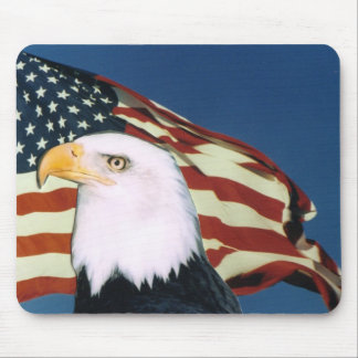 Bald Eagle & American Flag Mouse Pad