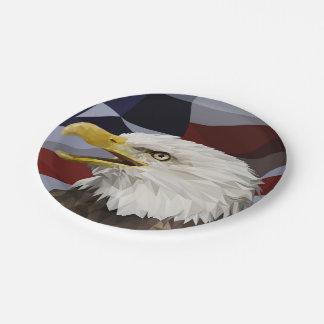 Bald Eagle American Flag Paper Plates