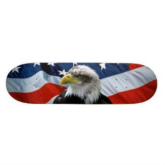 Bald Eagle American Flag Skateboard Deck