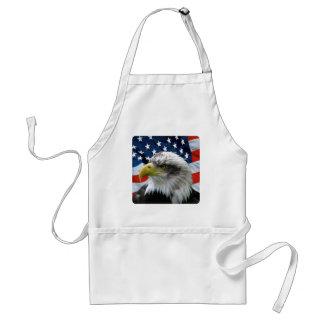 Bald Eagle American Flag Standard Apron