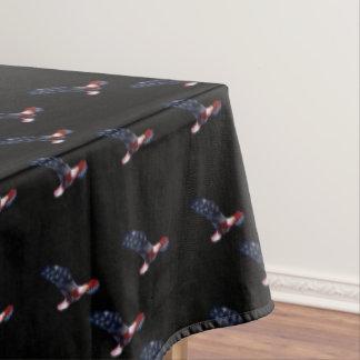 Bald Eagle American Flag Tablecloth