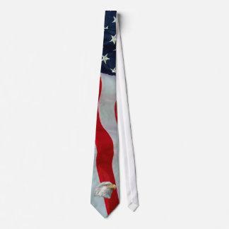 BALD EAGLE --AMERICAN FLAG TIE