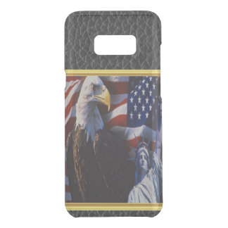Bald Eagle an Statue of Liberty an American flag Uncommon Samsung Galaxy S8 Plus Case