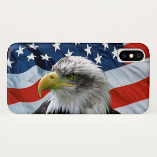 Bald Eagle and American Flag iPhone X Case