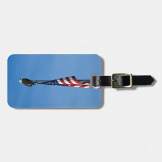Bald Eagle and American Flag - luggage tag