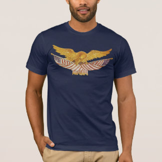 Bald Eagle and American Flags T-Shirt