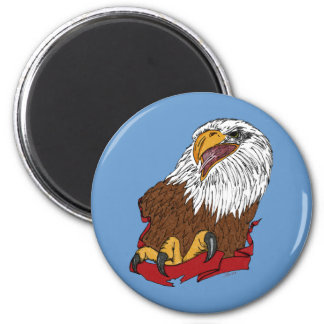 Bald Eagle and Ribbon Magnet