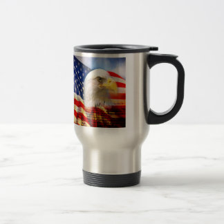 Bald Eagle and The American Flag Commuter Mug