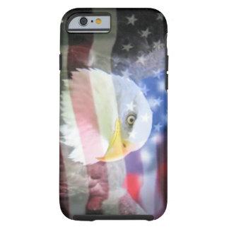 bald eagle and U.S.A. flag Tough iPhone 6 Case