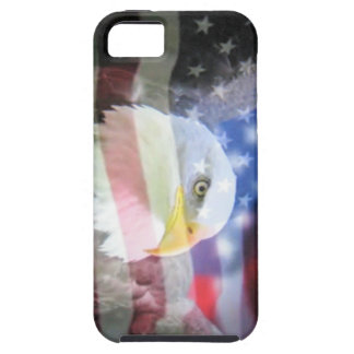 bald eagle and U.S.A. flag Case For The iPhone 5