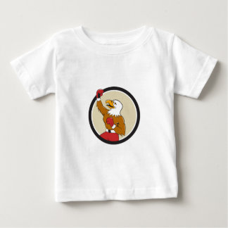 Bald Eagle Boxer Pumping Fist Circle Cartoon Baby T-Shirt