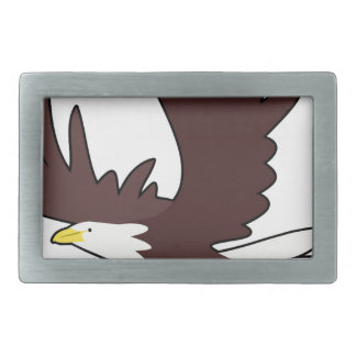 Bald Eagle Cartoon Belt Buckle