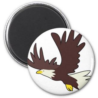 Bald Eagle Cartoon Magnet