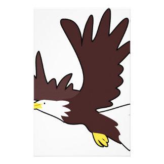 Bald Eagle Cartoon Stationery