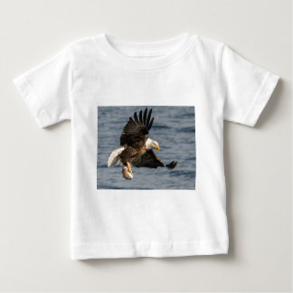 Bald Eagle Catching Food Baby T-Shirt