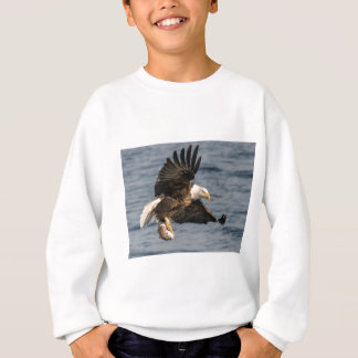 Bald Eagle Catching Food Sweatshirt