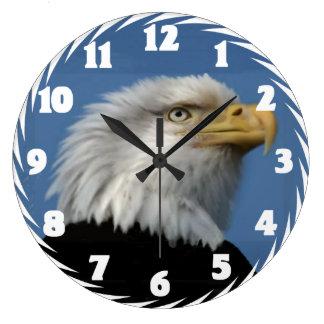 BALD EAGLE-CLOCK LARGE CLOCK