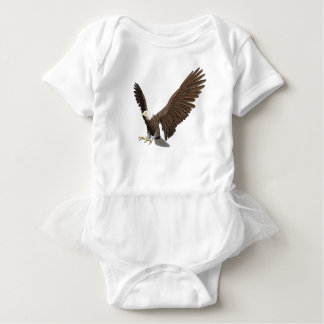 Bald Eagle Coming In For A Landing Baby Bodysuit