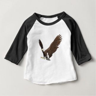 Bald Eagle Coming In For A Landing Baby T-Shirt