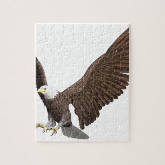 Bald Eagle Coming In For A Landing Jigsaw Puzzle