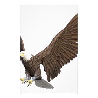 Bald Eagle Coming In For A Landing Stationery