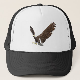 Bald Eagle Coming In For A Landing Trucker Hat