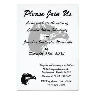 bald eagle cutout black card