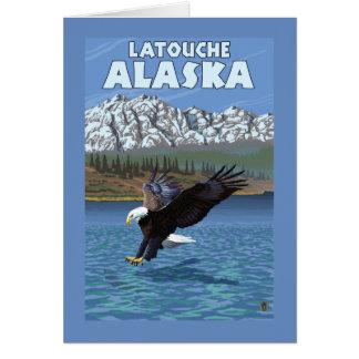 Bald Eagle Diving - Latouche, Alaska Greeting Card