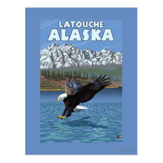 Bald Eagle Diving - Latouche, Alaska Postcard