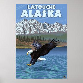 Bald Eagle Diving - Latouche Alaska Poster
