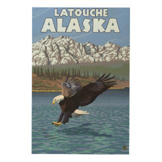 Bald Eagle Diving - Latouche, Alaska Wood Print
