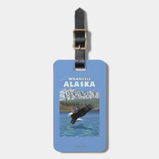 Bald Eagle Diving - Wrangell, Alaska Luggage Tag