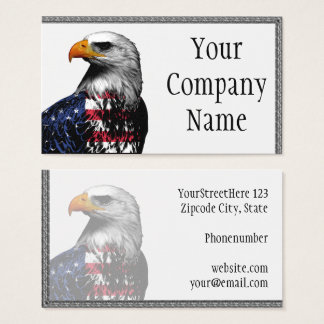 Bald Eagle draped in the American Flag Business Card