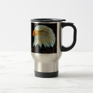 Bald Eagle fantasy travel mug