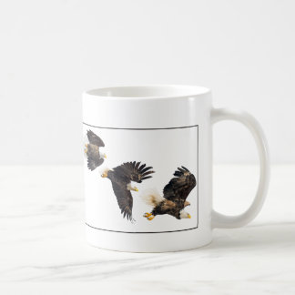 Bald Eagle Flight / Border Coffee Mug