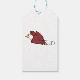 Bald Eagle Flying Cartoon Gift Tags