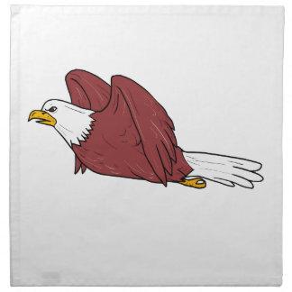 Bald Eagle Flying Cartoon Napkin