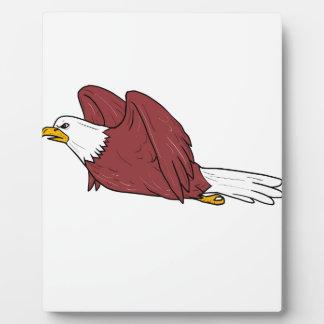Bald Eagle Flying Cartoon Plaque