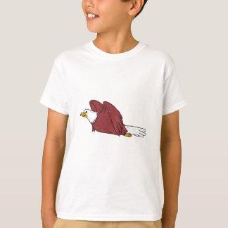 Bald Eagle Flying Cartoon T-Shirt