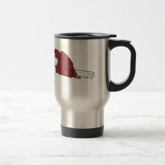 Bald Eagle Flying Cartoon Travel Mug