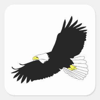 Bald Eagle Flying Square Sticker