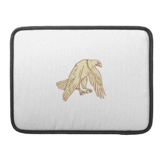 Bald Eagle Flying Wings Down Drawing MacBook Pro Sleeves